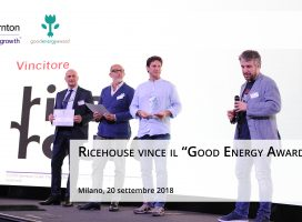 "RICEHOUSE VINCE LA NONA EDIZIONE DEL ""GOOD ENERGY AWARD"""